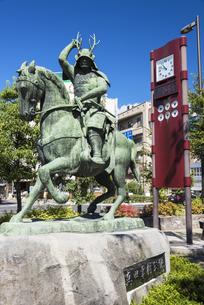 真田幸村公像の写真素材 [FYI04674377]