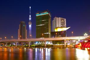 東京スカイツリー夜景の写真素材 [FYI04674414]