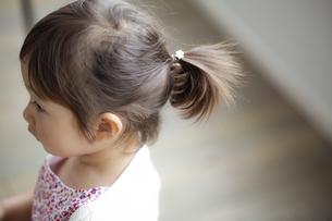 髪を結った日本人女の子の写真素材 [FYI04674468]