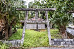 神聖なる西表島の前泊御嶽(マイドゥマリウガン)の写真素材 [FYI04674489]