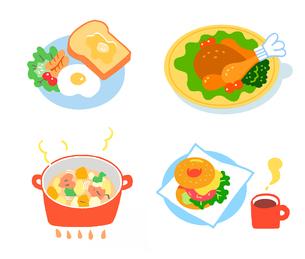 洋食いろいろ セットのイラスト素材 [FYI04674922]
