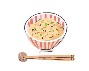 炊き込みご飯のイラスト素材 [FYI04674930]