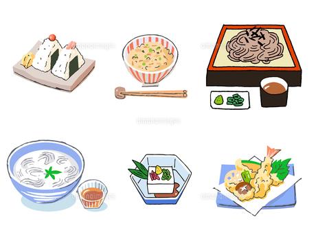 和食のメニューいろいろ セットのイラスト素材 [FYI04674945]