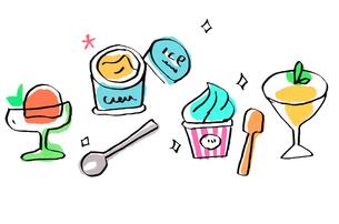 アイスクリーム いろいろのイラスト素材 [FYI04674950]