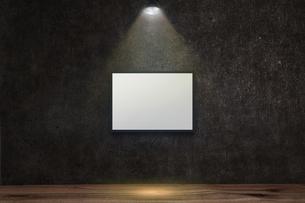 コンクリート壁のスポットライトの背景グラフィックス素材のイラスト素材 [FYI04674951]