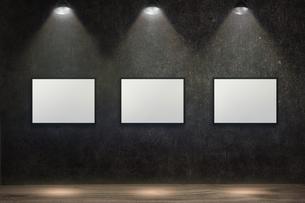 コンクリート壁のスポットライトの背景グラフィックス素材のイラスト素材 [FYI04674955]