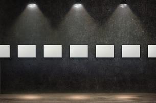 コンクリート壁のスポットライトの背景グラフィックス素材のイラスト素材 [FYI04674958]