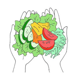 1日分の野菜のイラスト素材 [FYI04674992]