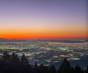 福岡県 風景 福岡市街夕景 の写真素材 [FYI04675002]