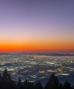 福岡県 風景 福岡市街夕景 の写真素材 [FYI04675005]
