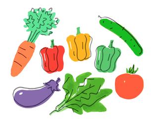 緑黄色野菜のイラスト素材 [FYI04675014]