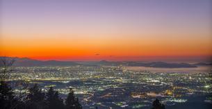 福岡県 風景 福岡市街夕景 の写真素材 [FYI04675023]