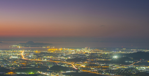 福岡県 風景 福岡市街夕景 の写真素材 [FYI04675039]