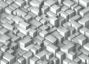抽象的3D背景画像(街並み風)のイラスト素材 [FYI04675168]