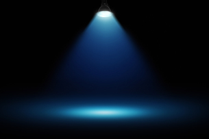 黒壁の青いスポットライトの背景グラフィックス素材の写真素材 [FYI04675396]