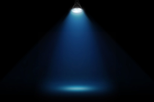 黒壁の青いスポットライトの背景グラフィックス素材の写真素材 [FYI04675397]