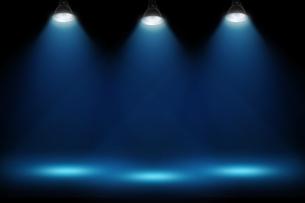 黒壁の青いスポットライトの背景グラフィックス素材の写真素材 [FYI04675398]