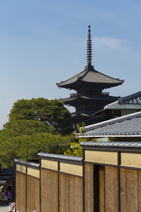 法観寺の五重塔の写真素材 [FYI04675928]