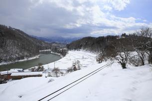 飯山線レールの写真素材 [FYI04675957]