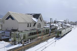 飯山線戸狩野沢温泉駅の写真素材 [FYI04676013]