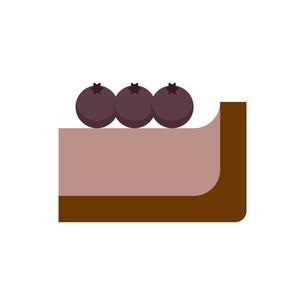 ブルーベリーチーズケーキアイコンのイラスト素材 [FYI04676070]