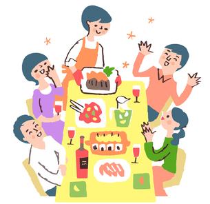ホームパーティーのイラスト素材 [FYI04676792]