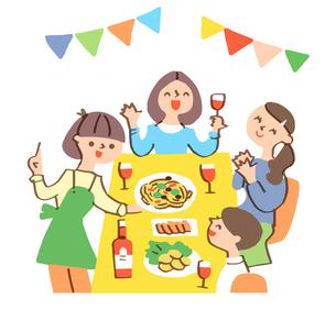 ホームパーティー 女子会のイラスト素材 [FYI04676795]
