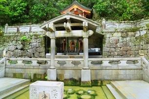 新緑の清水寺 音羽の滝の写真素材 [FYI04677108]