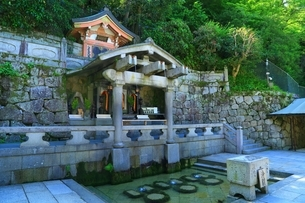 清水寺・音羽の滝の写真素材 [FYI04677147]