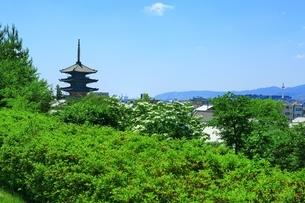 八坂の塔と京都市街の写真素材 [FYI04677208]