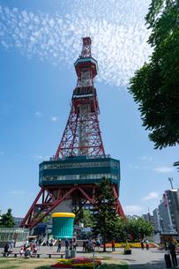 北海道、札幌テレビ塔の写真素材 [FYI04677298]