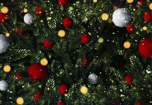 クリスマスのフレームと背景素材の写真素材 [FYI04677372]