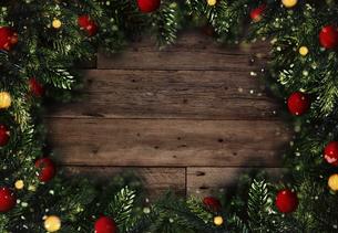 クリスマスのフレームと背景素材の写真素材 [FYI04677374]