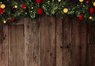 クリスマスのフレームと背景素材の写真素材 [FYI04677376]