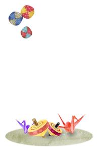 昔遊びの玩具 水彩イラストのイラスト素材 [FYI04677665]