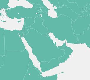 中東・中近東・アラビア半島 マップ・地図 (文字なし)のイラスト素材 [FYI04677677]