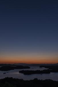 登茂山からの英虞湾夕照の写真素材 [FYI04677727]