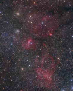 ケフェウス座の散光星雲の写真素材 [FYI04678086]