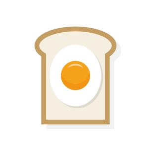 目玉焼きトーストのイラスト素材 [FYI04678131]