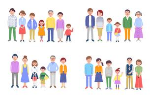 3世代家族 4組セット のイラスト素材 [FYI04678202]
