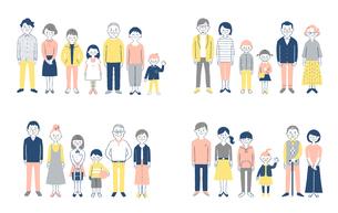3世代家族 4組セットのイラスト素材 [FYI04678203]