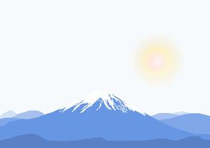富士山と太陽のイラスト素材 [FYI04678331]