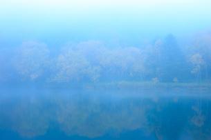 志賀高原の霧の木戸池の写真素材 [FYI04678392]