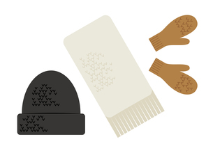 冬のファッション小物イラストのイラスト素材 [FYI04678686]