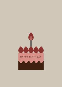 シンプルいちごケーキのカードのイラスト素材 [FYI04678751]