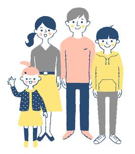 4人家族のイラスト素材 [FYI04678984]