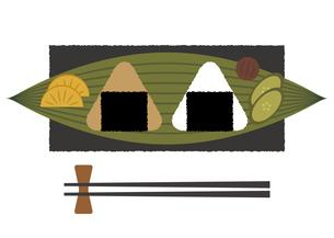 おにぎり 笹の葉 皿 イラストのイラスト素材 [FYI04679291]