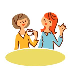 会話する女性二人のイラスト素材 [FYI04679529]