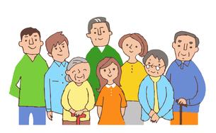 老若男女の人々のイラスト素材 [FYI04679557]