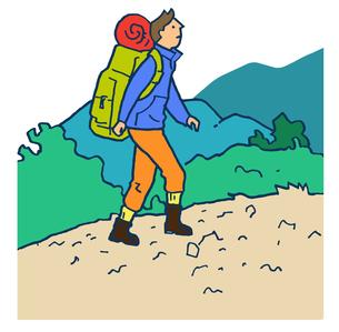 山登りする男性のイラスト素材 [FYI04679588]